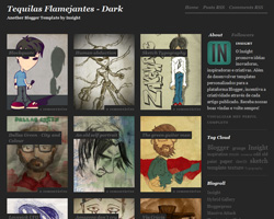 Tequilas Flamejantes-Dark Blogger Template