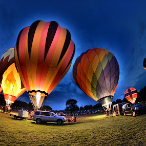 Maryland Preakness Balloon Glow 2013 by Dawn Robinson - City,  Street & Park  Night (  )