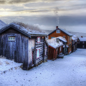 by Jan Helge - City,  Street & Park  Historic Districts ( old, røros, buildings, old town,  )