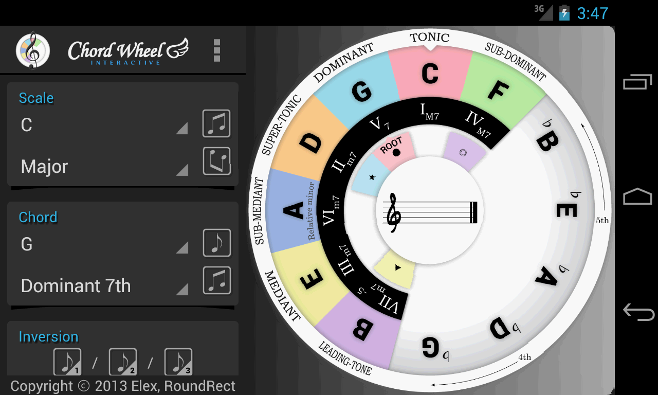 Chord Wheel : Circle of 5ths- screenshot
