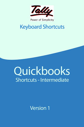 Tally Quick Books Shortcuts