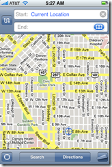 Google Maps for iPhone - Home Screen