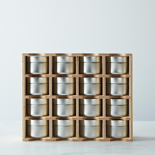 Spice Rack with Erasable Labels