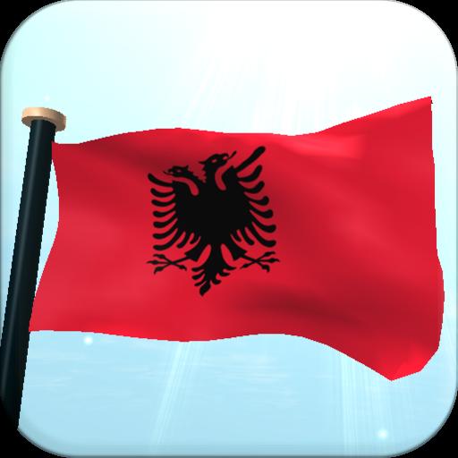 個人化必備App|阿爾巴尼亞旗3D免費動態桌布 LOGO-綠色工廠好玩App