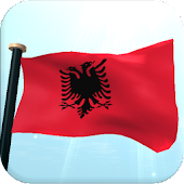 Albania Flag 3D Free Wallpaper