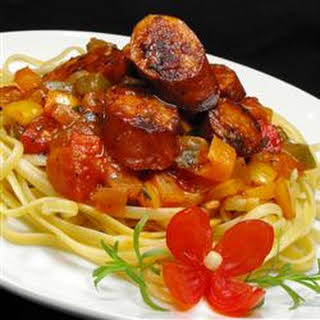Sweet Italian Sausage Ragout with Linguine.