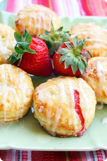 Fruit Puff Pastry Doughnuts