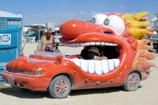Crazy Face Car