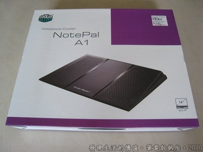 NotePal,Cooler Master NotePal A1的包裝。