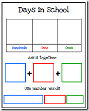 Days in School printable