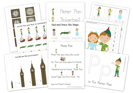 peter pan preschool pack free preschool printables