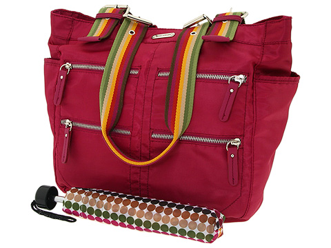 Franco Sarto Over The Rainbow North South Tote With Snap In Case And Umbrella Bag For Women
