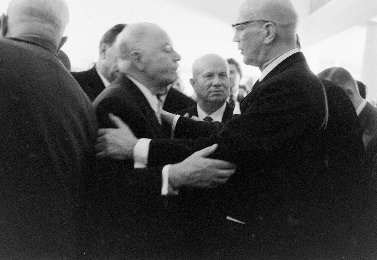 Khrushchev Attends Finish Reception In Moscow