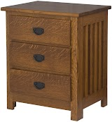 Mission Nightstand with Drawers