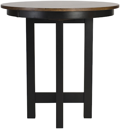 "42"" Diameter Barcelona Table Shown in Medium and Midnight Oak"