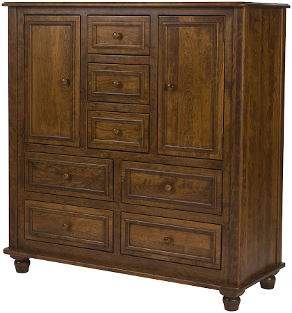 Matching Furniture Piece: Lotus Wardrobe Dresser in Antique Cherry