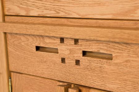 Florence Nightstand with Doors, in Cinnamon Oak