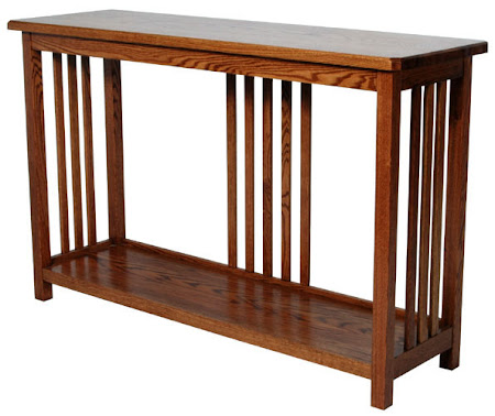Mission Sofa Table Shown in Medium Oak