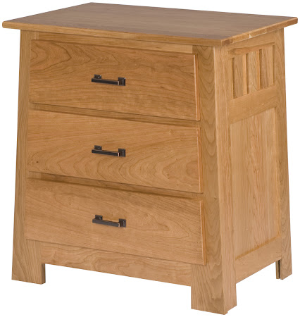 Teton Nightstand with Drawers, in Oil & Wax Cherry