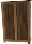 Shaker Dresser (finished rear panel), Walnut & Cherry Hardwood, Natural Finish