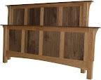 Shaker Bed, Cherry & Walnut Hardwood, Natural Finish