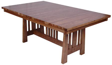 70 x 46 Eastern Table, Hickory Hardwood, Sunset Finish