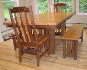 Maine table and bench set