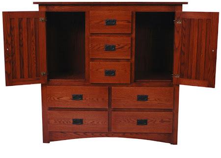 Mission Dresser, in Mahogany Oak