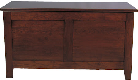 """36"""" wide Shaker Chest in Antique Cherry (right)"""