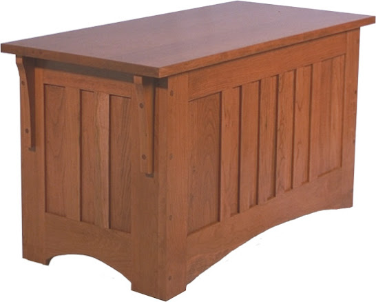 """36"""" wide Mission Chest in Red Cherry"""