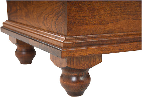 """36"""" wide Spring Lotus Chest in Antique Cherry"""