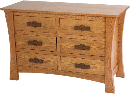 Zen Horizontal Dresser in Medium Oak