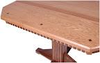 70 x 46 Woodland Dining Table, Walnut and Oak Hardwood, Natural Finish