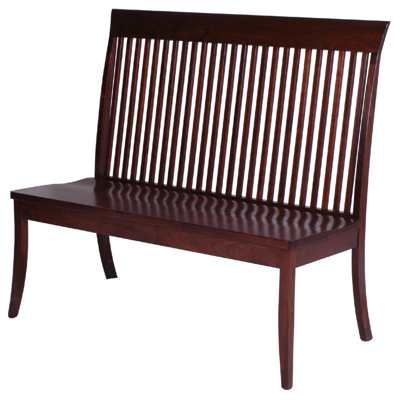 Dining Room Bench With Back: Lancaster Bench With Back