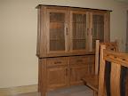 Zen Shaker China Cabinet, Oak Hardwood, Medium & Midnight Finish