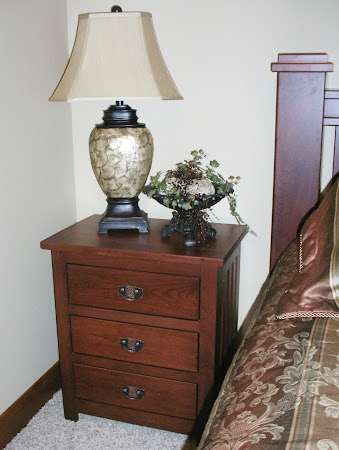 Mission Nightstand with Drawers, in Lexington Oak, Custom Hardware