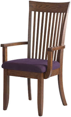 Lancaster Dining Chair with Custom Fabric Seats