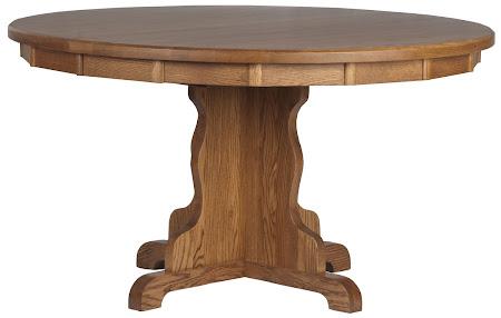 "54"" Diameter Colonial Table in Medium Oak"