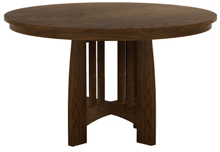 Sonora Round Dining Table in Rustic Oak
