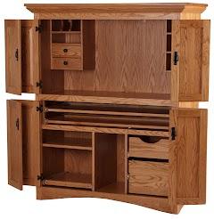 Oak Armoire Desks
