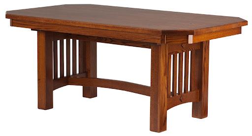 "58"" x 36"" Albany Mission Table in Medium Quarter Sawn Oak"