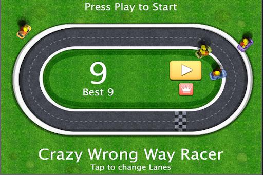 Crazy Wrong Way Racer
