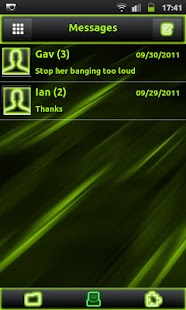 How to get Neon Green Style Go Sms 1.3 apk for android