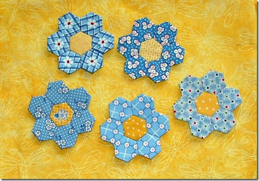 blue hexies