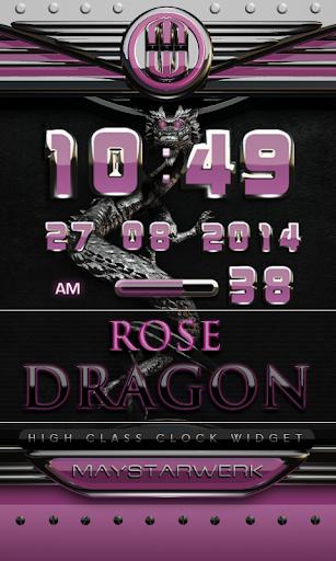 dragon digital clock rose