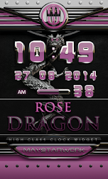 dragon digital clock rose APK screenshot thumbnail 1