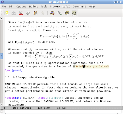 AUCTeX and preview-latex