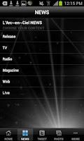Screenshot of L'Arc~en~Ciel Official Appli