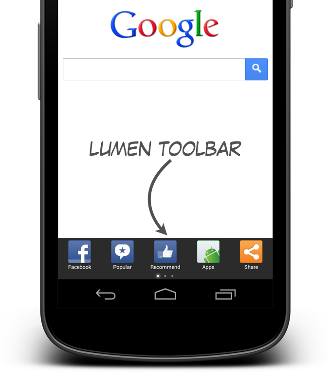 Lumen Toolbar - screenshot