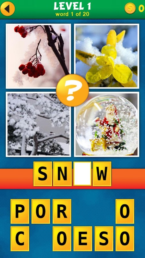 4 Pics 1 Word Puzzle Plus- screenshot